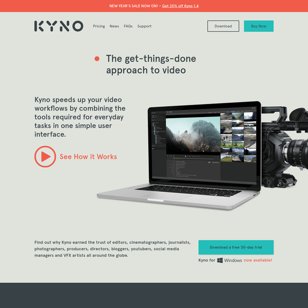 Kyno is a leightweight application for screening, organizing and converting footage, pro-grade without the fuss of having to ingest material or having to adapt to a proprietary workflow.