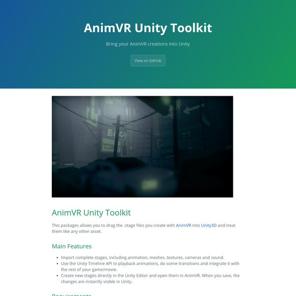 AnimVR Unity Toolkit
