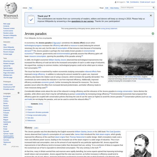Jevons paradox - Wikipedia