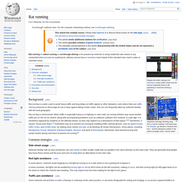 Rat running - Wikipedia