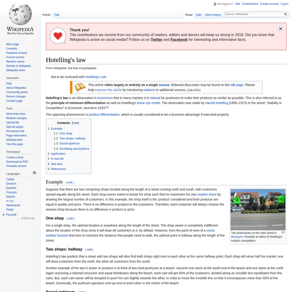 Hotelling's law - Wikipedia