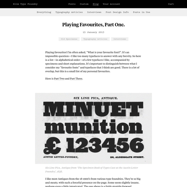 Welcome to Klim. Fire up a modern browser to make & share your very own custom specimens with live fonts!