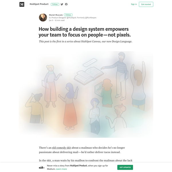 How building a design system empowers your team to focus on people - not pixels.