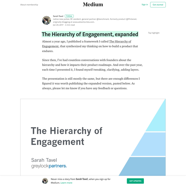 A The Hierarchy of Engagement, expanded - Sarah Tavel - Medium
