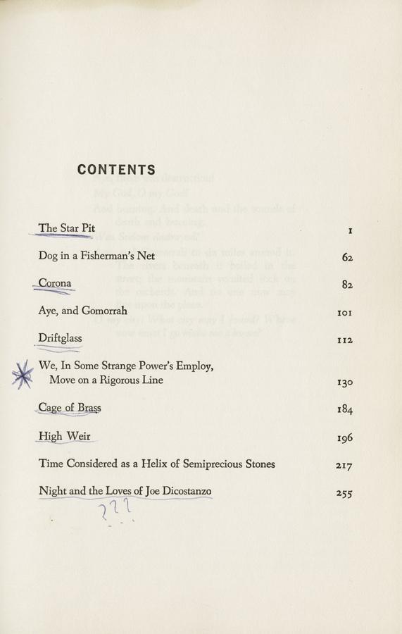 Delany, Samuel R., _Driftglass_ (Garden City: Nelson Doubleday, Inc., 1971).