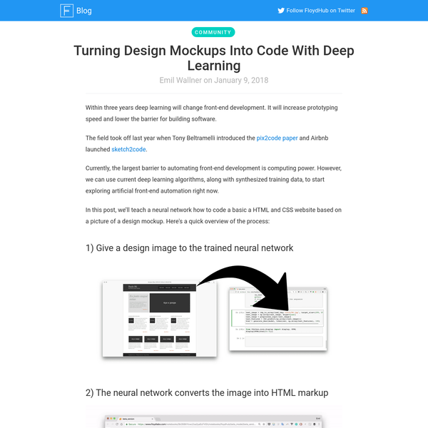 Turning Design Mockups Into Code With Deep Learning - FloydHub Blog