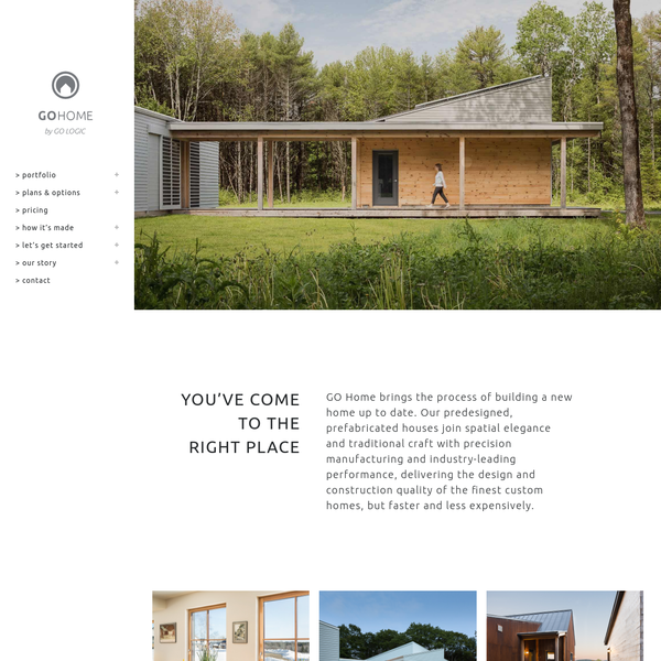 GO Home by GO Logic   Maine crafted. Passive House. Prefab.