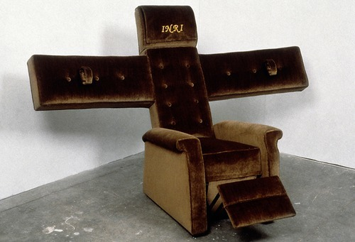 Christoper Chiappa 'Lazy Boy Crucifix, 2000'