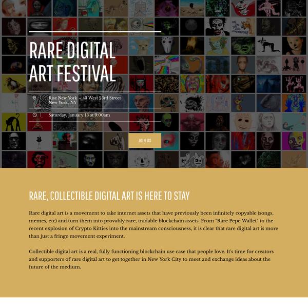 Rare Digital Art Festival