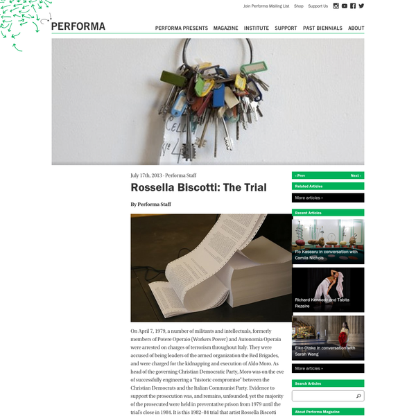 Performa · Rossella Biscotti: The Trial