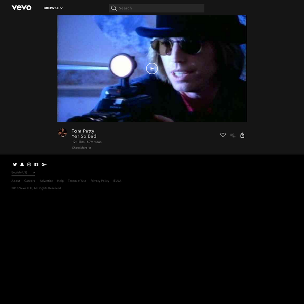 Watch Yer So Bad by Tom Petty online at vevo.com. Discover the latest music videos by Tom Petty on Vevo.