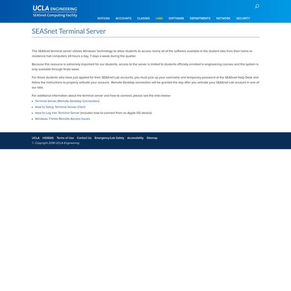SEASnet Terminal Server