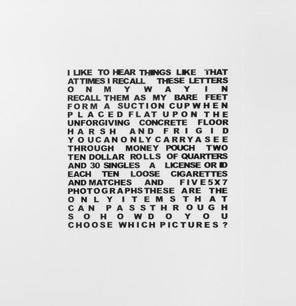 2018.01 Sable Elyse Smith: CONDO London, Untitled, 2017