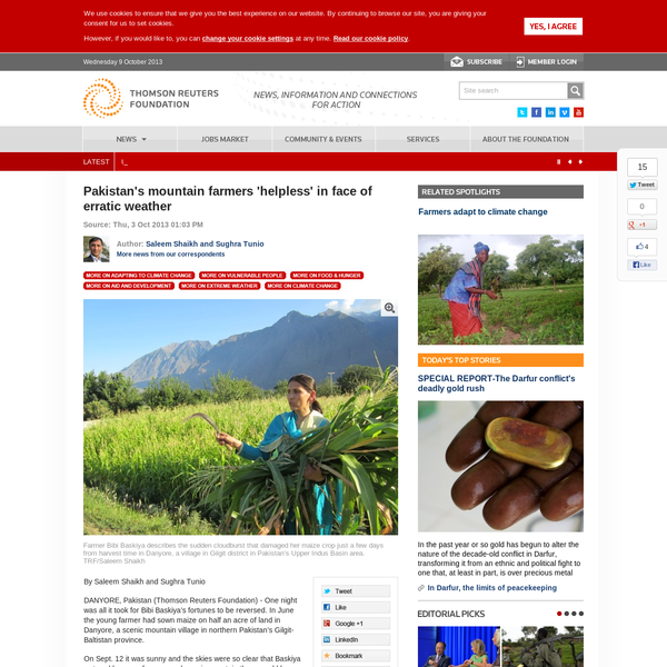 Pakistan's mountain farmers 'helpless' in face of erratic weather