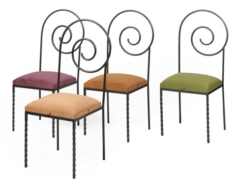 Spiral Chair, ca. 1980s  http://www.artnet.com/artists/luigi-serafini/chaises-suspiral-set-of-4-Wr_NB3H46tXebU0BySMiuA2
