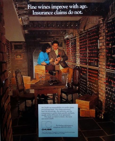 Chubb Insurance ad 1987
