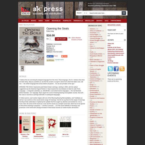 Opening the Seals | AK Press