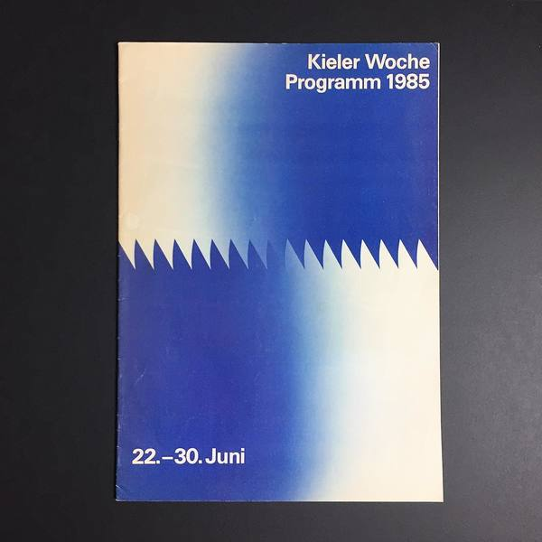 #1985 #kielerwoche programme #brochure (#design by doris casse schlüter) - #historyofgraphicdesign #graphicdesign #corporatedesign #corporateidentity #kiel #modernism #gradient #coverjunkie
