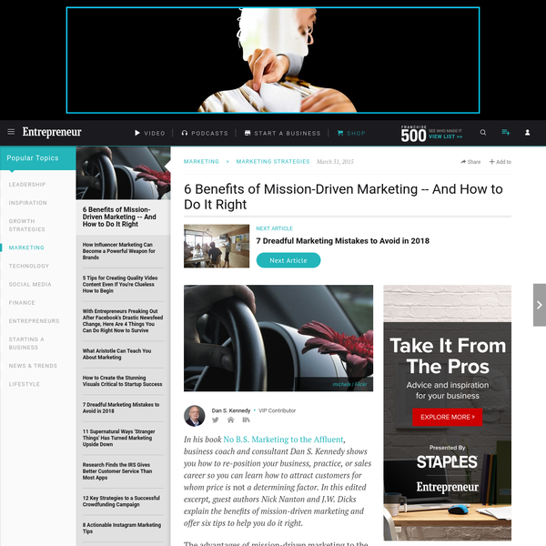 6 Benefits of Mission-Driven Marketing -- And How to Do It Right