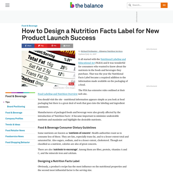 How to Design a Nutrition Facts Label