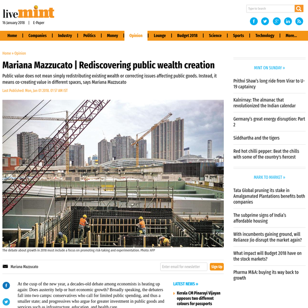 Mariana Mazzucato | Rediscovering public wealth creation