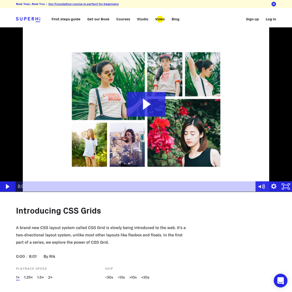 A brand new CSS layout system called CSS Grid is slowly being introduced to the web. It's a two-directional layout system, unlike most other layouts like flexbox and floats. In the first part of a series, we explore the power of CSS Grid.