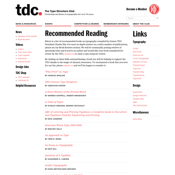 Helpful Resources - The Type Directors Club