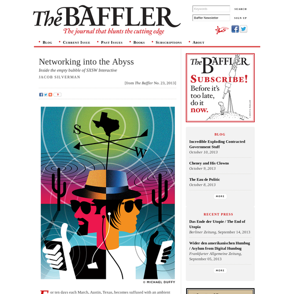 Networking into the Abyss | Jacob Silverman | The Baffler