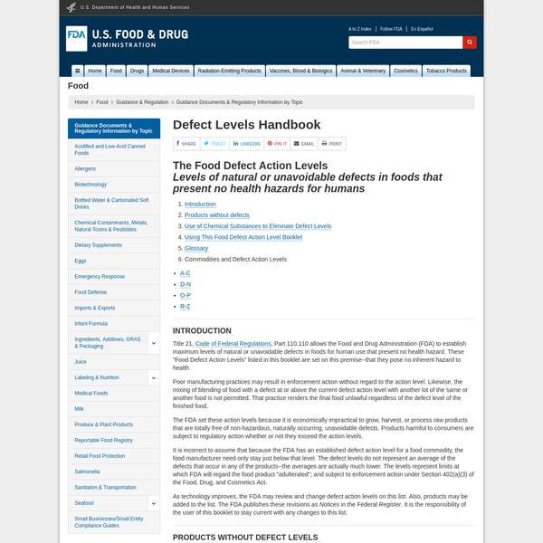 Defect Levels Handbook