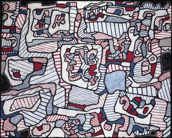 Jean Dubuffet, Site Inhabited by Objects, 1965