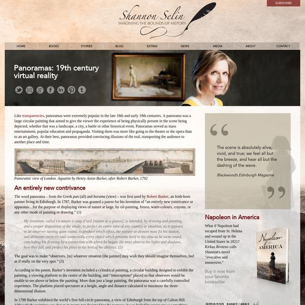 Panoramas: 19th century virtual reality - Shannon Selin