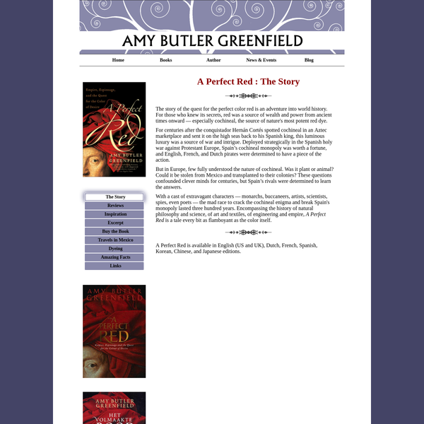 Amy Butler Greenfield A Perfect Red   The Story