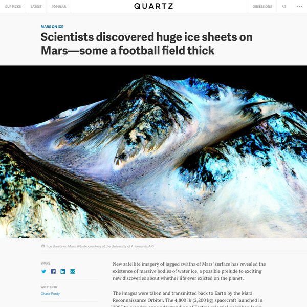 Scientists discovered huge ice sheets on Mars-some a football field thick