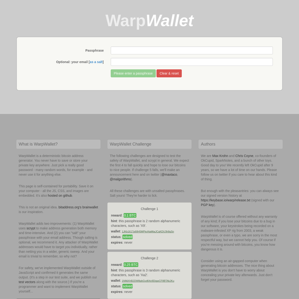 WarpWallet is a deterministic bitcoin address generator. You never have to save or store your private key anywhere. Just pick a really good password - many random words, for example - and never use it for anything else.