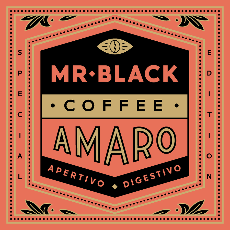 A bunch of promo stuff for the new @mrblackspirits coffee Amaro. Limited edition, available here: coffeeamaro.com