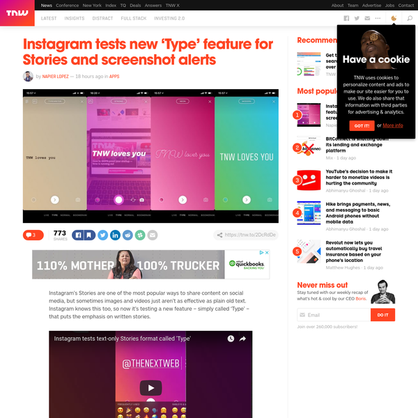 Instagram's Stories are one of the most popular ways to share content on social media, but sometimes images and videos just aren't as effective as plain old text. At least, that's what the company seems to think; it's testing a new feature - simply called 'Type' - that allows you to post a written story.