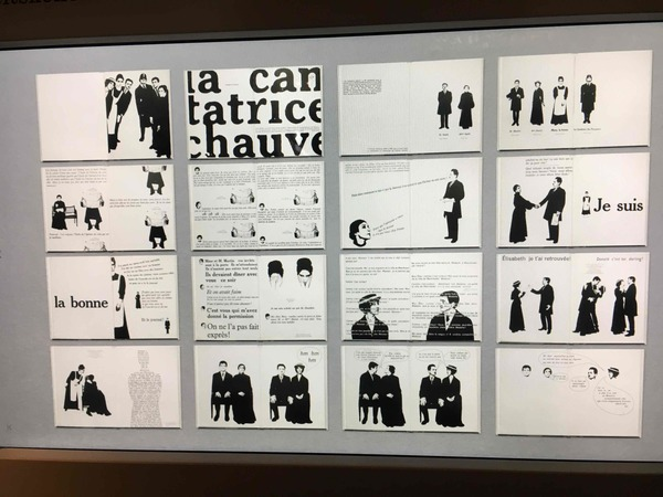 Eugene Ionesco – La cantatrice chauve, 1964, designed by Robert Massin, France