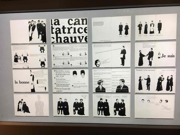 Eugene Ionesco – La cantatrice chauve, 1964, designed by Robert Massin, France