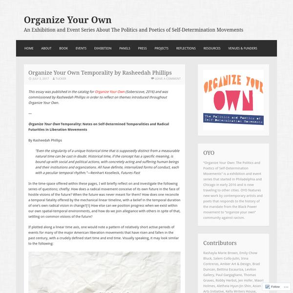 Organize Your Own Temporality by Rasheedah Phillips