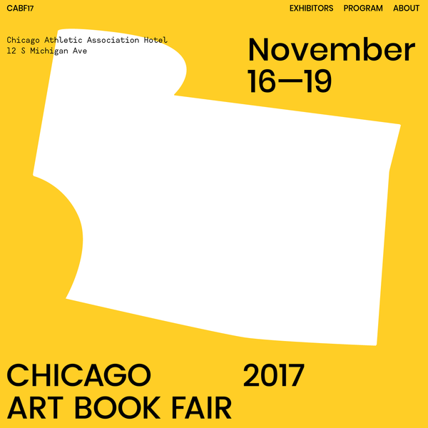 This is the Chicago Art Book Fair's website.