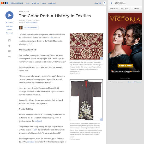 The Color Red: A History in Textiles