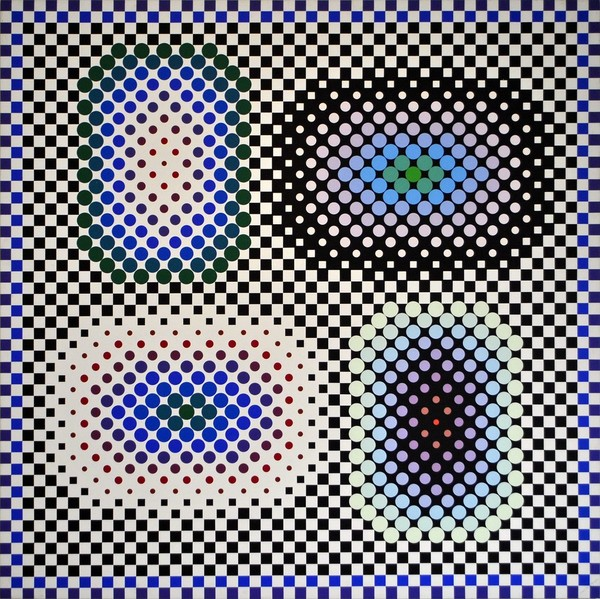 VICTOR VASARELY Micron, 1984 1984 70 3/4 × 70 3/4 in 179.7 × 179.7 cm