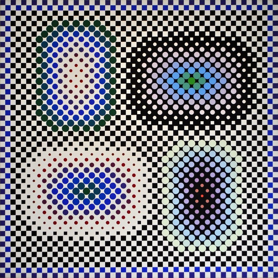 Victor Vasarely, Micron, 1984