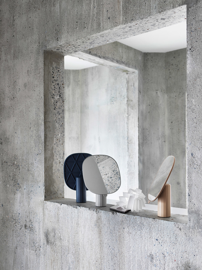 Plastic mirror by Normal Studio for Muuto