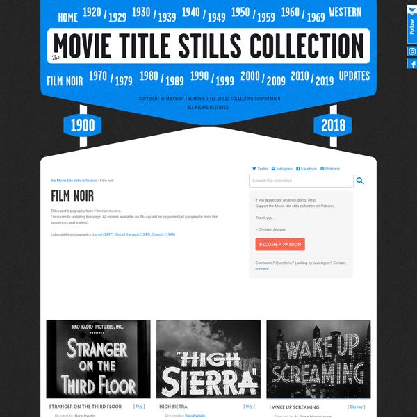 Film noir | The Movie title stills collection
