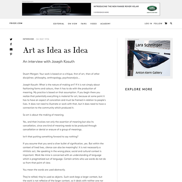 Art as Idea as Idea