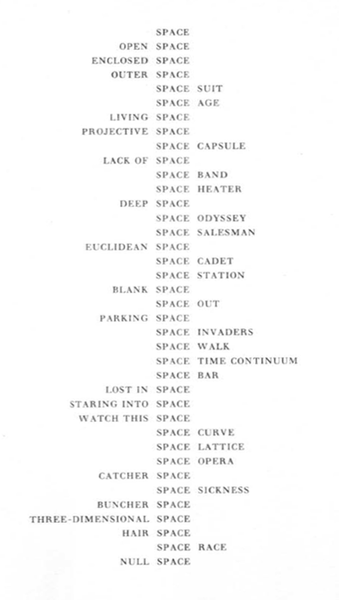 from Species of Spaces and Other Places (1974)