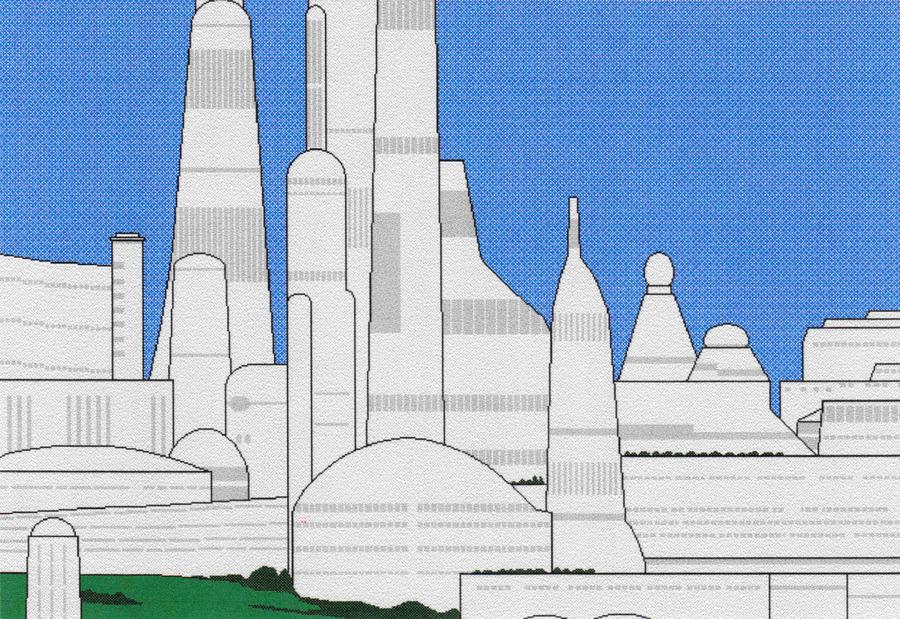 Aldera on Alderaan, Microsoft Paintbrush, 1997