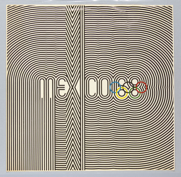 Poster, Mexico 68, 1967; Designed by Lance Wyman and Eduardo Terrazas
