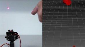 LEAP Motion + Firefly + Laser Pointer